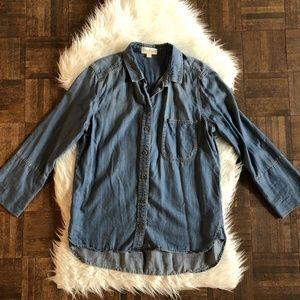 Cloth & Stone Large Amabel Blue Chambray Shirt